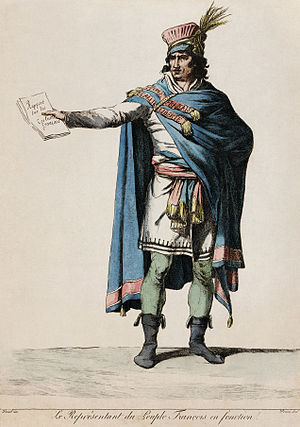 Vivant Denon - Engraving by Denon of a Republican costume designed by David