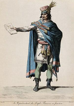 Vivant Denon - Engraving by Denon of a Republican costume designed by David