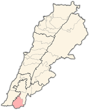 Bint Jbeil District - Image: Lebanon districts Bent Jbail