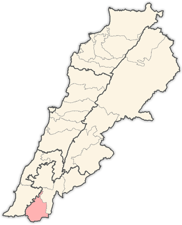 Lebanon districts Bent Jbail.png