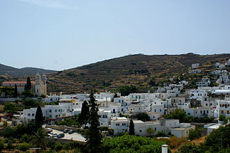 Paros - View of Lefkes village