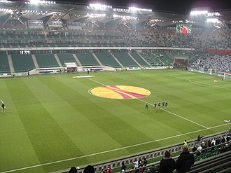 Polish Army Stadium - Main stand before UEFA Europa League match between Legia Warsaw and PSV Eindhoven