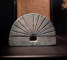 photograph of an ancient sundial