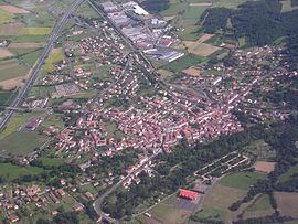 An aerial view of Lempdes-sur-Allagnon