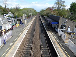 Lenzie railway station - looking towards Bishopbriggs.JPG