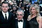 Scorsese junto a Leonardo DiCaprio y Cameron Diaz.