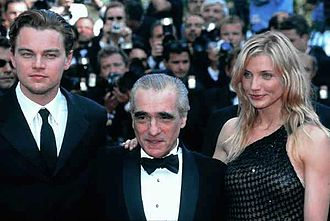 Leonardo DiCaprio - DiCaprio with Martin Scorsese and Cameron Diaz at Gangs of New York event circa 2002