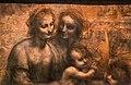 Leonardo da vinci, madonna col bambino, sant'anna e l'agnellino (cartone di burlington house), 1499-1500 ca. 02.jpg