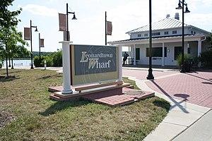 Leonardtown, Maryland -  Entrance to the Leonardtown Wharf