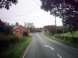 Level Crossing on A144 - geograph.org.uk - 233527.jpg