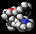 Levo-Alphamethadol molecule spacefill.png