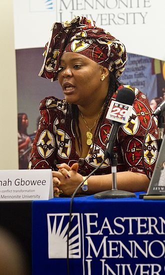 Women in warfare and the military (2000–present) - Leymah Gbowee (Photo credit: Jon Styer/EMU)