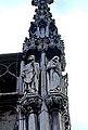 Liège, Palais Provincial01, statues de Saint Monulphe et Pepin de Landen.JPG