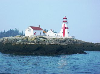 Campobello Island - Head Harbour Lightstation, Passamaquoddy Bay, Campobello Island, on the south coast of New Brunswick, abutting the border with the US