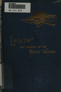 <i>Lilith, The Legend of the First Woman</i> 19th-century American narrative poem in five books