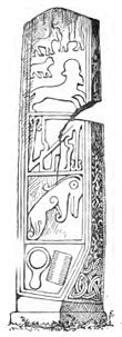 Early artwork showing several Celtic figures