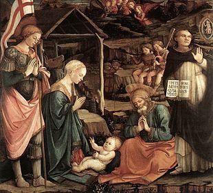 Adorazione del Bambino di San Vincenzo Ferrer, Museo Civico di Prato