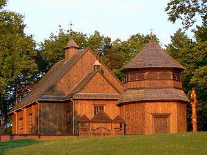 Palūšė - 18th-century wooden church in Palūšė