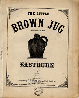 Little Brown Jug (song) - Original 1869 sheet music cover