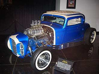 Surf music - The 1932 Ford that appeared on the cover to the Beach Boys' album, Little Deuce Coupe (1963).