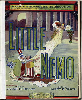 Winsor McCay - Cover to the score of the extravagantly expensive Little Nemo stage musical, 1908