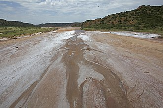 Lake Texoma - Salt beds in the Red River