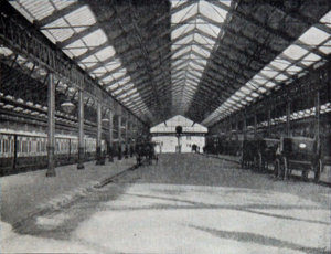 Llandudno railway station - Llandudno railway station pictured in 1894
