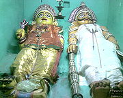 Local deities Vandimalaisaami and Vandimalaichchiamman in Ettayapuram