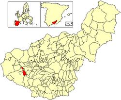 Location of Cacín