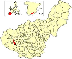 Cacín - Image: Location Cacín