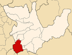 Location of Lauricocha in the Huánuco Region