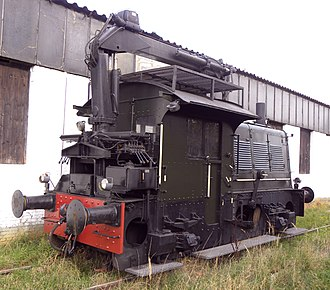 NS Class 200 - Preserved Class 200 locomotive with crane, probably no. 246.