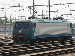 FS class E412, an electric locomotive operated by Trenitalia in Italy.