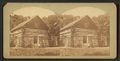 Log House on West Okoboji Lake where Abbie Gardner and others were massacared in 1857, from Robert N. Dennis collection of stereoscopic views.png