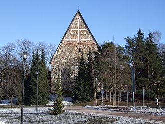 Lohja - Image: Lohjan Pyhän Laurin kirkko maaliskuussa 2007