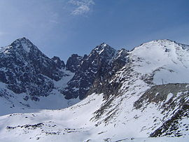 Lomnicky and Kezmarsky stit from Skalnate pleso I.jpg
