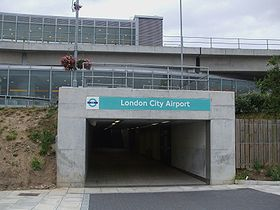London City Airport stn southern entrance.JPG