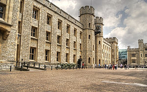Tower of London - The south face of the Waterloo Block