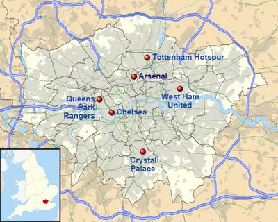 premier league karta Premier League 2014/2015 – Wikipedia premier league karta