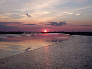 Saxon Shore Way - Sunset over The Swale
