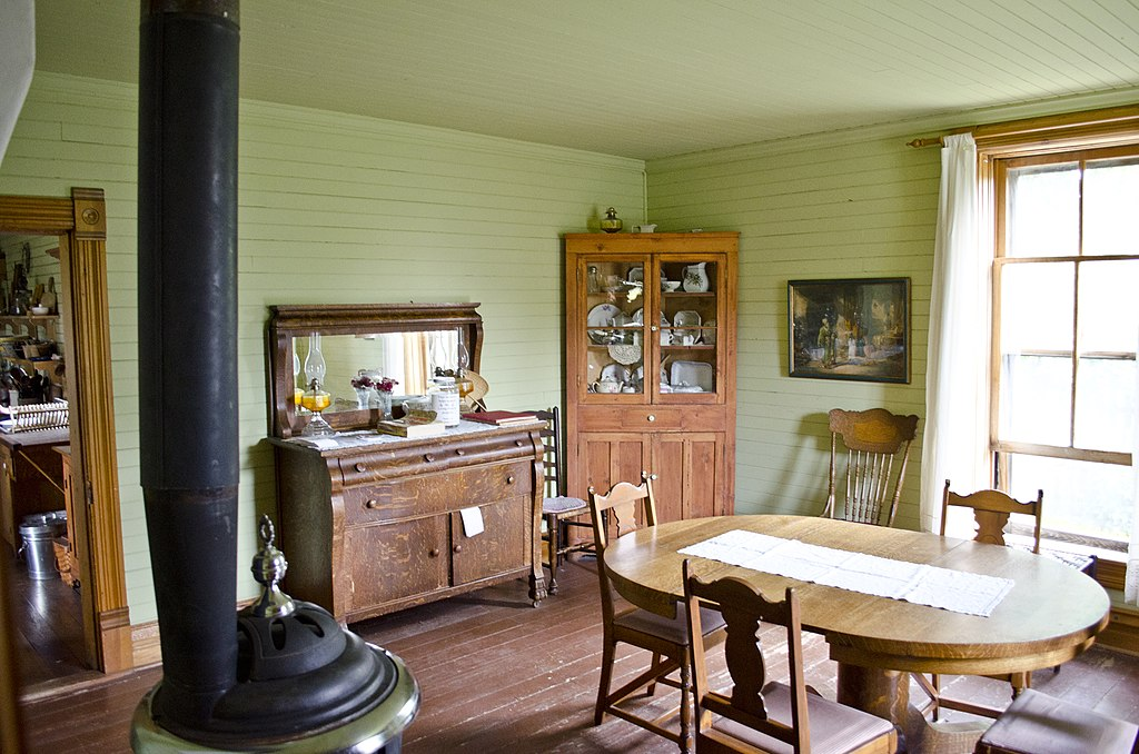 Cozy Country Kitchen With Painted Cabinets