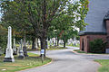 Looking S on Central Avenue past chapel - Glenwood Cemetery - 2014-09-14.jpg