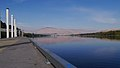 Looking north on Columbia River from Wenatchee Riverfront Park Dock Washington.jpg