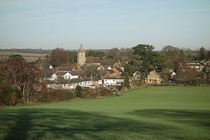 Sandridge - Image: Looking north to Sandridge across the fields