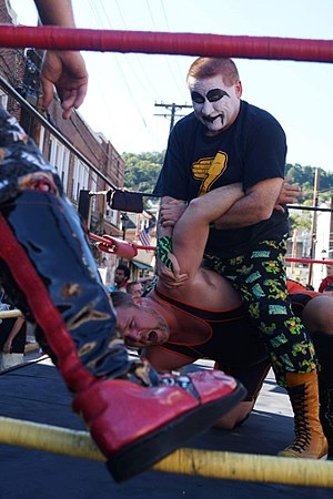 Lord Zoltan - Lord Zoltan with Shawn Blanchard in an Arm Bar with the KSWA