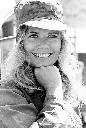 "Loretta Swit - Swit on M*A*S*H set in 1972 as Major Margaret ""Hot Lips"" Houlihan"