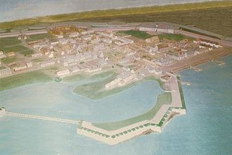 Fortress of Louisbourg - Diorama of the Fortress of Louisbourg in 1758