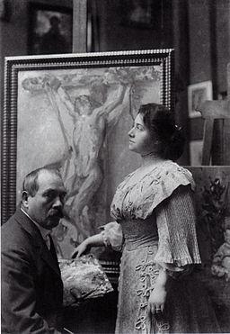 Lovis i Charlotte Corinth w berlińskim atelier 1908
