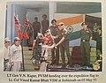 Lt Gen V.N Kapur Handing of the Flag to the Expedition Leader Major Vinod Bhatt.jpg