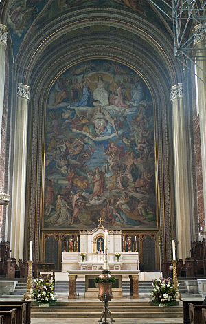 Peter von Cornelius - Fresco of The Last Judgment at the Ludwigskirche in Munich